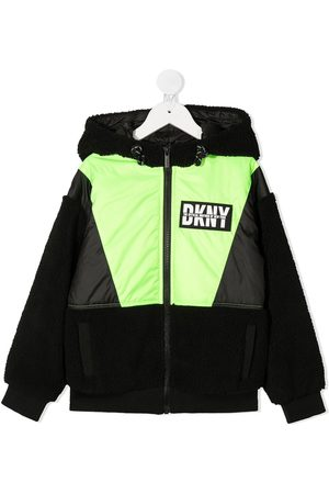 DKNY Colour-block shearling jacket