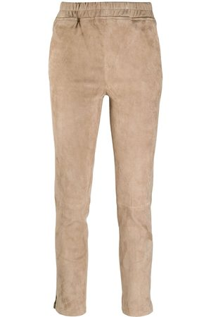 arma leder Slim-fit pull-on trousers - Neutrals