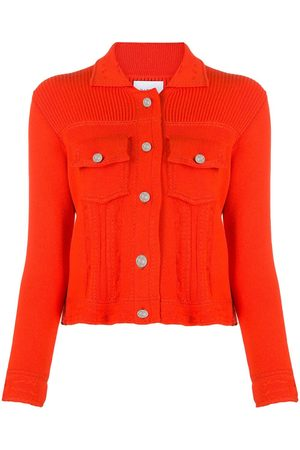 Barrie Women Cardigans - Ribbed-panel knitted cardigan