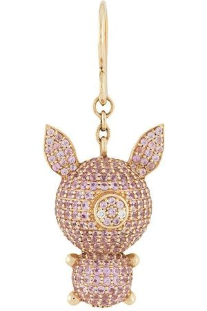 Natasha Zinko 18kt yellow , diamond and sapphire Piggy earring