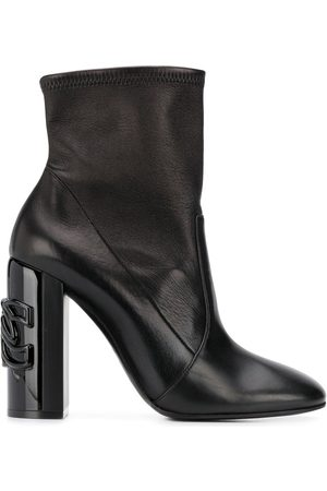 Casadei Heel-logo ankle boots