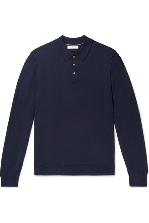 Mr P. Men Polo Shirts - Slim-Fit Merino Wool Polo Shirt