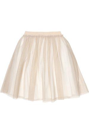Il gufo Glittered tulle skirt