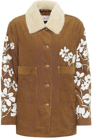 Tory Burch Sequined cotton corduroy jacket