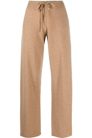 Chinti And Parker Embroidered logo cashmere track pants - Neutrals