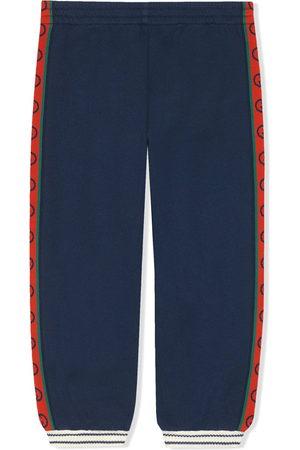 Gucci Intarsia knit logo trousers