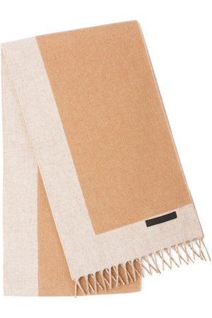 Prada Knitted fringe scarf - Neutrals