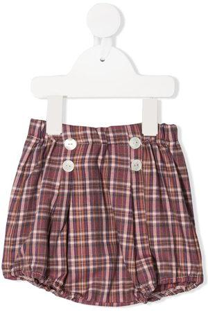 Siola Plaid print high-waisted bloomer shorts