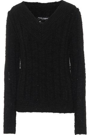 Dolce & Gabbana Off-shoulder wool-blend sweater