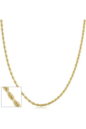 SuperJeweler 14K (3.80 g) 2.7mm Hollow Rope Chain Necklace, 18 Inches