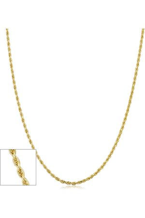 SuperJeweler 14K (1.75 g) 1.6mm Hollow Rope Chain Necklace, 24 Inches