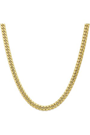 SuperJeweler 14K (43.30 g) 9.3mm Miami Cuban Chain Necklace, 24 Inches