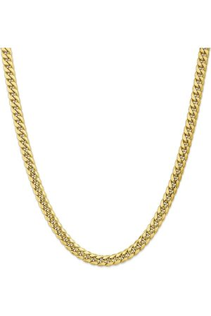SuperJeweler 14K (30.10 g) 7.3mm Miami Cuban Chain Necklace, 26 Inches