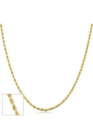 SuperJeweler 14K (2.10 g) 1.9mm Hollow Rope Chain Necklace, 18 Inches