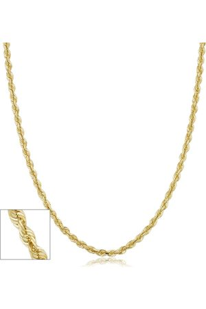 SuperJeweler 14K (9.60 g) 3.8mm Hollow Rope Chain Necklace, 24 Inches