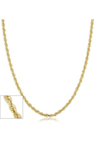 SuperJeweler 14K (7.40 g) 3.8mm Hollow Rope Chain Necklace, 18 Inches