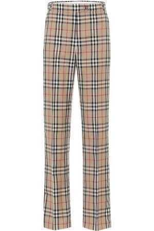 Burberry Women Trousers - Vintage Check high-rise pants
