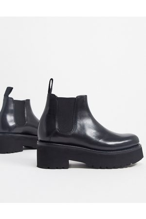 GRENSON Naomi chunky leather chelsea boots in