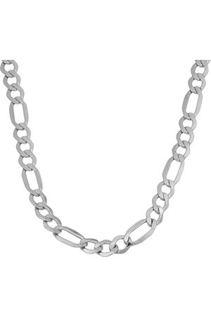 SuperJeweler 10K (7.50 g) 5.6mm Semi-Solid Figaro Chain Necklace, 20 Inches