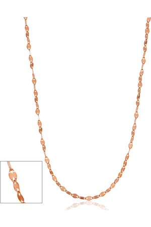 SuperJeweler 10K Rose (0.58 g) 1mm Mirror Flat Link Chain Necklace, 18 Inches