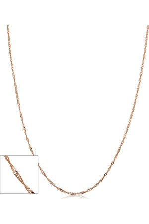 SuperJeweler 10K Rose (1.30 g) 1mm Singapore Chain Necklace, 24 Inches