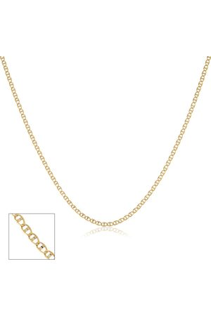 SuperJeweler 10K Two Tone (1.90 g) 1mm Valentino Chain Necklace, 24 Inches