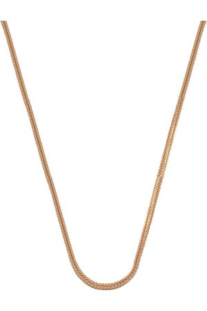 SuperJeweler 10K Rose (1.90 g) 0.9mm Square Foxtail Chain Necklace, 20 Inches