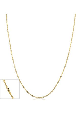 SuperJeweler 10K (1 gram) 1mm Singapore Chain Necklace, 18 Inches