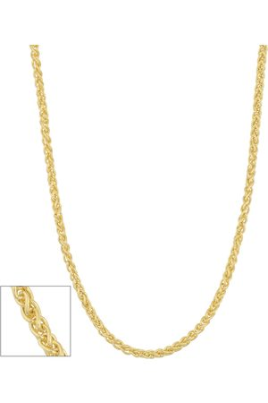 SuperJeweler 10K (3.10 g) 1.6mm Hollow Round Wheat Chain Necklace, 24 Inches