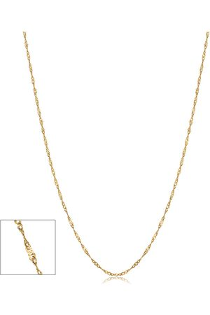 SuperJeweler 10K (1 gram) 0.85mm Singapore Chain Necklace, 18 Inches