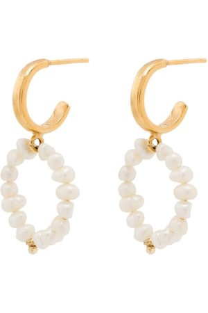 Hermina Athens Women Earrings - Mini hoop pearl earrings