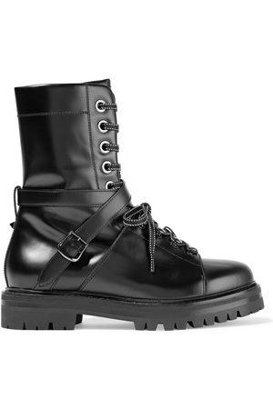 VALENTINO GARAVANI Woman Lace-up Leather Boots Size 35