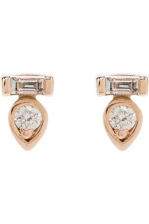 Dana Rebecca Designs 14kt rose gold diamond stud earrings