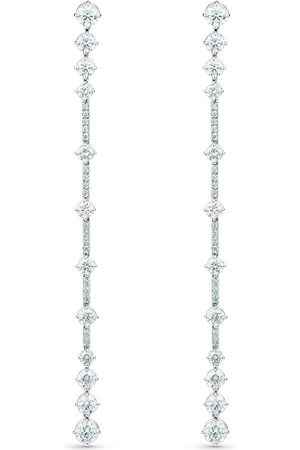 De Beers 18kt white gold diamond Arpeggia one line earrings