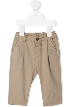Zhoe & Tobiah Straight-leg chino trousers - Neutrals