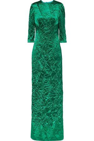 Miu Miu Crinkled-effect floor-length gown