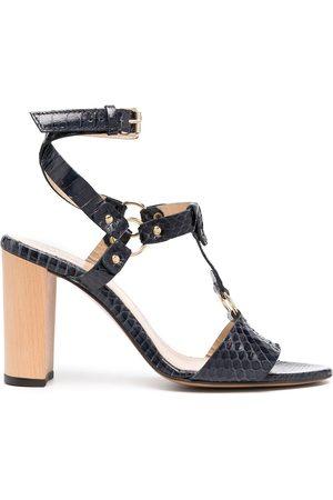 Tila March Women Heels - Pebble strappy block-heel sandals