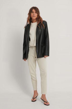 NA-KD Women Straight - Straight Basic Sweatpants - Beige
