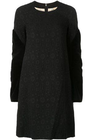 Comme des Garçons Velvet sleeves jacquard dress