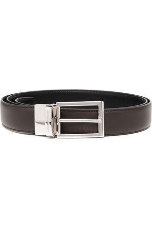 Ermenegildo Zegna Engraved logo buckle belt