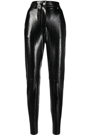 Msgm High-shine textured trousers