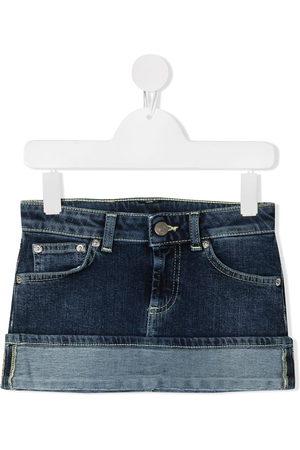 DONDUP KIDS Girls Denim Skirts - Turn-up hem denim mini skirt