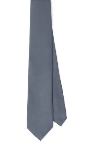 Prada Men Bow Ties - Embroidered-logo silk tie