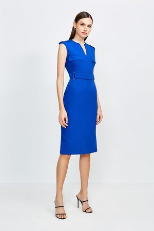 Karen Millen UK & IE Women Pencil Dresses - Karen Millen Square D Ring Pencil Dress
