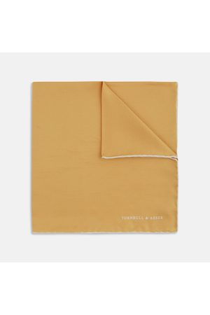 Turnbull & Asser And Piped Silk Pocket Square