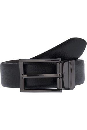 Dents Reversible Grainy Leather Belt, BLACK/BROWN / L