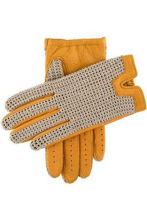 Dents Men's Crochet Back Peccary Leather Gloves, CORK / XL
