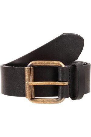 Dents Waxed Leather Belt, BLACK / L