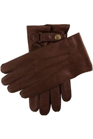 Dents Men's Cashmere Lined Deerskin Leather Gloves, BARK / 8