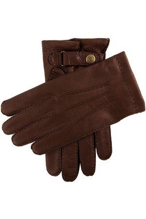 Dents Men's Cashmere Lined Deerskin Leather Gloves, BARK / 8